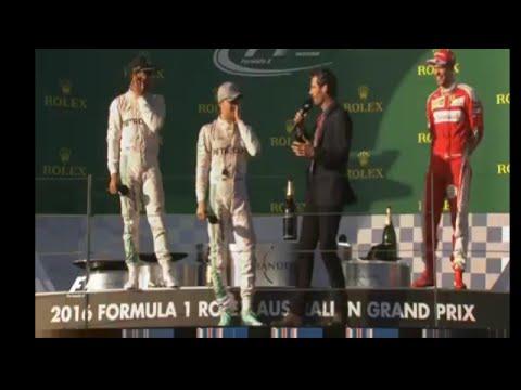 F1 2016 Australia - Podium Interviews with Mark Webber