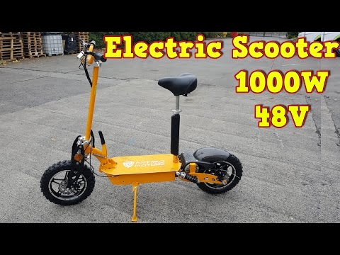 1000w 48v Electric Scooter Review and Test Run - Twister 10 inch - Video