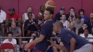 "Steph Curry ""Wired Up"" at Team USA Mini-Camp"
