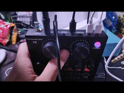 Unboxing the V8 Sound Card Console and initial test