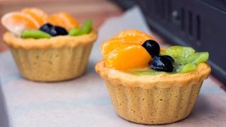 Песочные корзинки с фруктами рецепт в домашних условиях