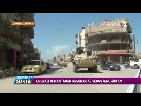 Pasukan Marinir AS Berpatroli di Perbatasan Suriah-Turki