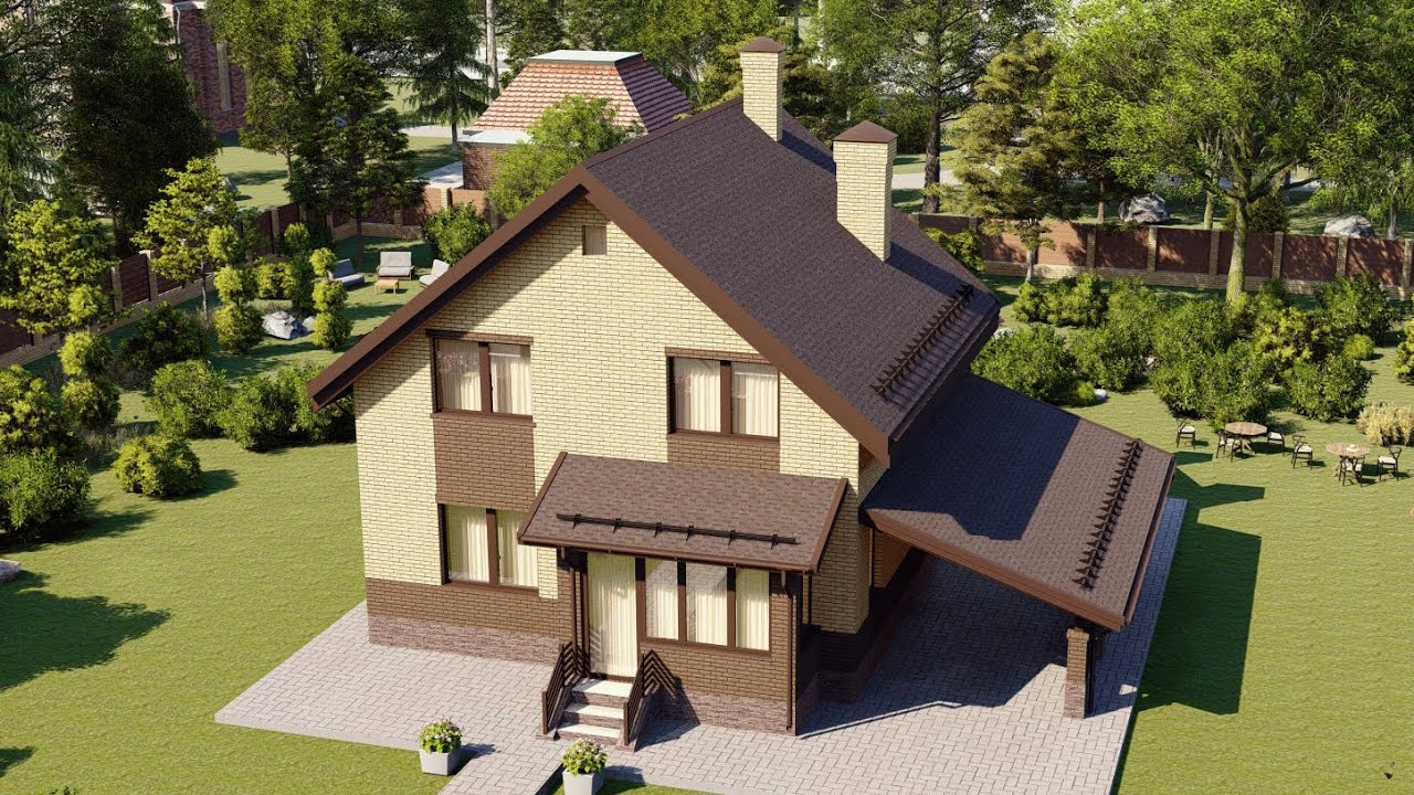 Проект одноэтажного дома с мансардой 126 м2