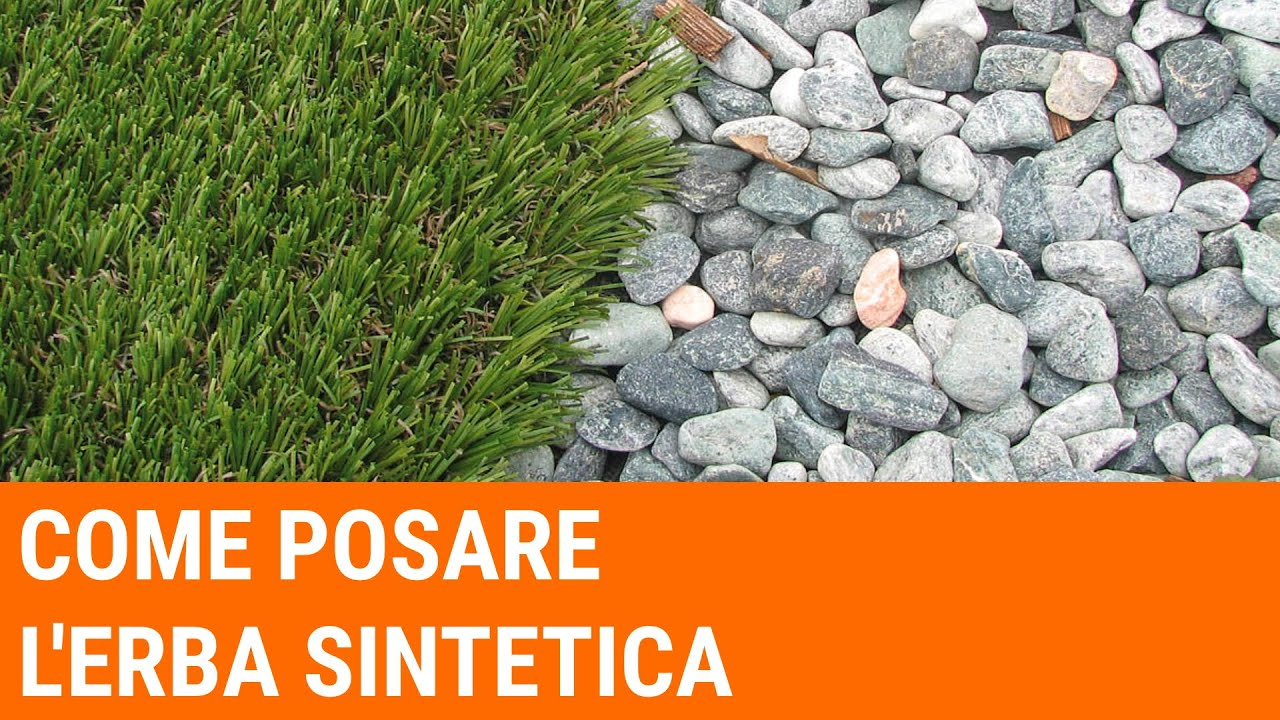 Come posare l'erba sintetica