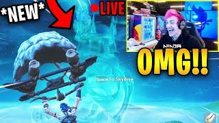 NINJA REACTS TO *NEW* ICE STORM EVENT LIVE!! *INSANE* (ZOMBIES ADDED!) | Fortnite Highlights