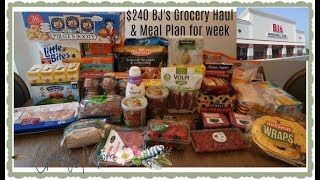 $240 BJ's Wholesale Grocery Haul + Meal Plan for 4/15-4/21