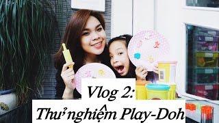 Song Thư Vlog : Lần đầu thử nghiệm bột nặn Play-Doh / Play-Doh REVIEW