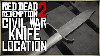 CIVIL WAR KNIFE LOCATION - Red Dead Redemption 2 - Unique Collectible 611 RARE HIDDEN SECRET KNIFE