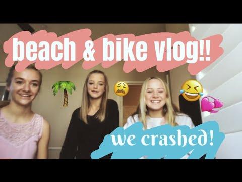 Beach vlog! biking of the road!💞🙈 palmtree blondesquad🌴💕