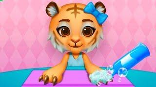 Мультики про животных для детей САЛОН КРАСОТЫ Маникюр и причёска для кошечки Детская игра #Малышерин