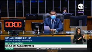 Plenário - Breves comunicados - Discursos parlamentares - 05/08/2020 12:55