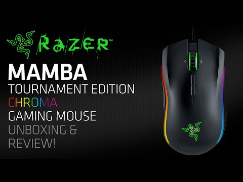 Razer Mamba Tournament Edition Chroma Gaming Mouse Unboxing & Review!