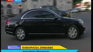 Afrika Mashariki 2018/03/25- Rais Ramaphosa amtembelea Mnangagwa nchini Zimbabwe