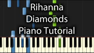 Gambar cover Rihanna - Diamonds Tutorial (How to Play on Piano) In the Sky