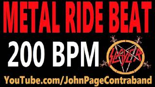 Metal Ride Beat 200 bpm Slayer Style Drums Only Track Loop
