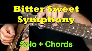 The Verve - Bitter Sweet Symphony: Easy Guitar Lesson + TAB by GuitarNick