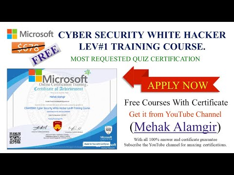Microsoft Online Certification Training II Cyber Security Free Course ...
