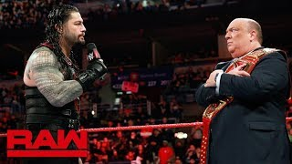 Paul Heyman responds to Roman Reigns: Raw, March 5, 2018