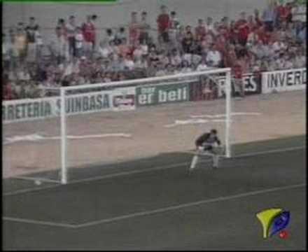 Gol de Masegosa con el Racing Portuense al Toledo