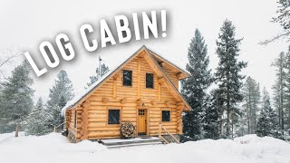 *SNOW STORM* LOG CABIN AIRBNB FULL TOUR! | IN THE MOUNTAINS!