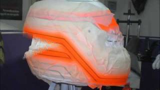 Airbrush step by step replica casco Alonso