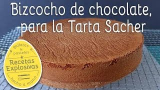 Bizcocho para Tarta Sacher - Recetas Explosivas
