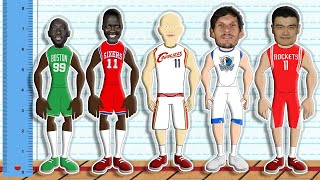 Every NBA Team's Tallest Player EVER! (NBA Height Comparison Animation)