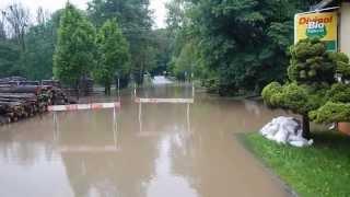 preview picture of video 'Hochwasser in Wasserkretscham - 3.Juni 2013'