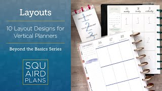 10 Layout Designs For Vertical Planners :: Beyond The Basics :: Happy Planner Vertical