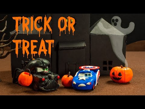Mater And Lightning McQueen Trick Or Treat For Halloween