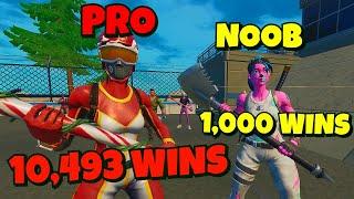 Fortnite Competitive NOOB vs PRO!!! (WHO WINS?)