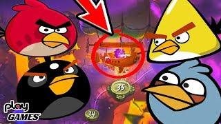 Angry Birds Встретил БОССА и ПРОГНАЛ! Открыл ЛОКАЦИЮ веселая мульт игра про злых птичек Энгри Бердс