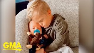 6-year old 'baby whisperer' the only one who can calm newborn down | GMA Digital