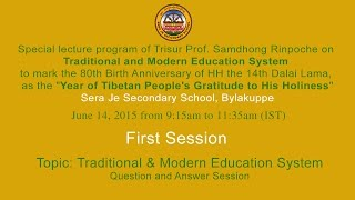 Eng: Session 1 Tropic: Traditional & Modern Education System Q&A