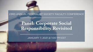 Click to play: Panel: Corporate Social Responsibility Revisited