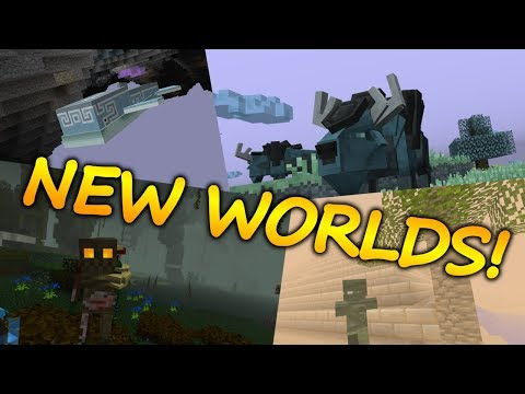 Minecraft Top 5 Dimension Mods (NEW WORLDS) - 2018