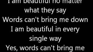 Beautiful christina aguilera lyrics