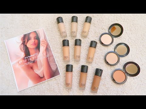 MAC Next To Nothing Collection   Review/Demo & Swatches   Foundation, Powder & Brushes