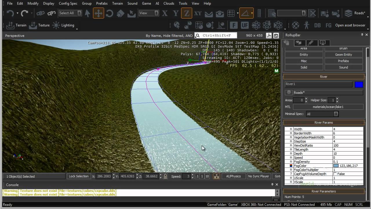 CryEngine 3 SDK: How to Create/Add Rivers - Tutorial 10