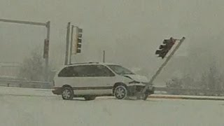 Icy road sliding and spinouts compilation - 2012-2013 season coverage