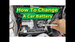 How To Replace Car Battery Mercedes W204 C-Class C250, Most Cars