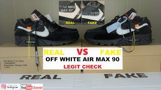 HOW TO LEGIT CHECK OFF WHITE Air max 90 | HOW TO SPOT FAKE NIKE OFF WHITE