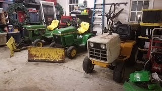 New Year, New Tractors: Two John Deere 140's and a Cub Cadet 1811
