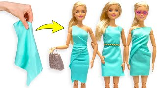 Many Looks For Your Barbie Doll From One Piece Of Fabric