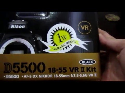 Unboxing Nikon D5500 18-55mm VR II Kit