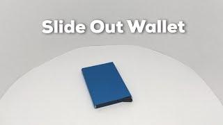 Slide Out Credit Card Wallet