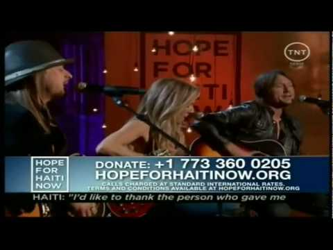 Lean On Me performed by Sheryl Crow; features Keith Urban and Kid Rock
