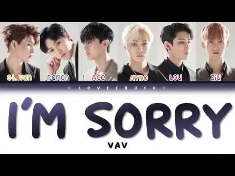 VAV (브이에이브이) 'I'm Sorry' Lyrics [Color Coded Han | Rom