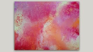 EASY PEASY Fireworks Over Water Acrylic Painting Tutorial For