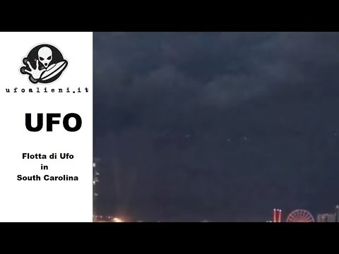Flotta di UFO avvistati in South Carolina Agosto 2018